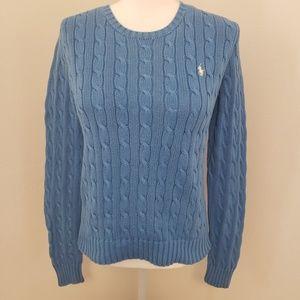 Ralph Lauren Blue 100% Cotton Sweater Medium